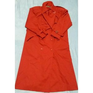 Harvé Benard Red Trench Coat Size Large